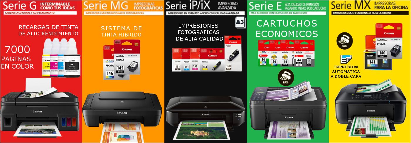 CANON - IMPRSORAS CARTUCHOS PCS