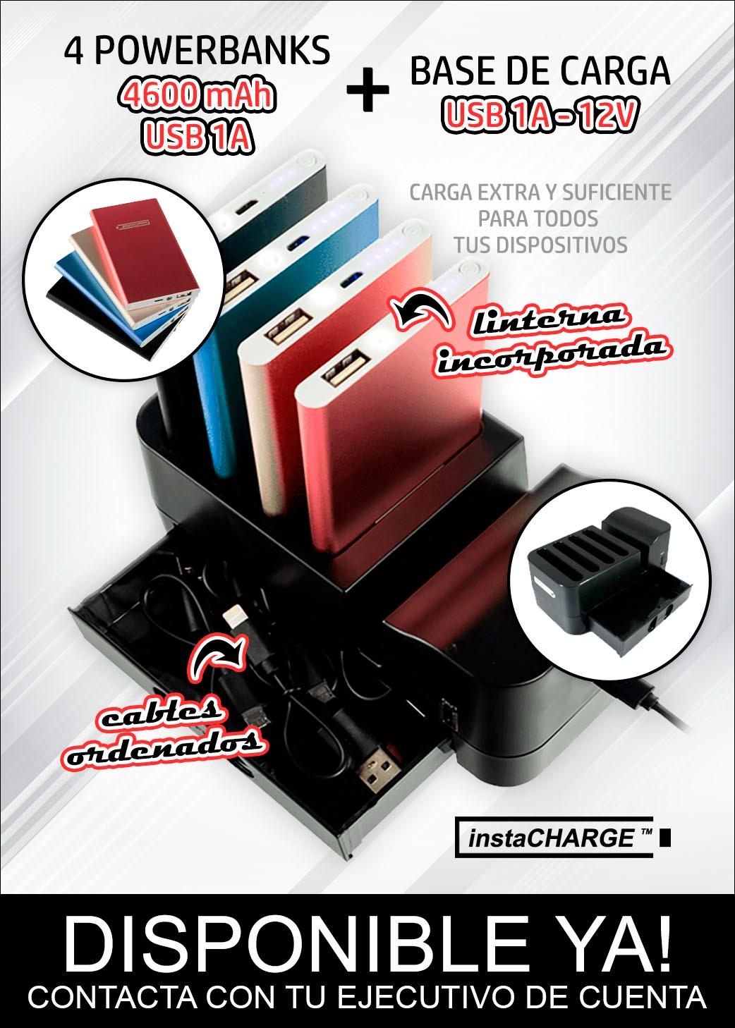 POWERBANKS + ESTACION CARGA